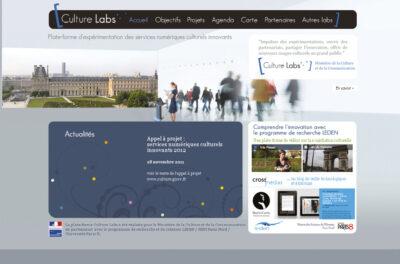 « Culture Labs » Plateforme des services numériques culturels innovants du ministère de la Culture et de la Communication