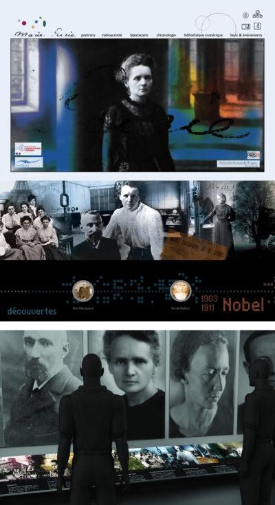 « Marie Curie, femme de sciences », un projet décliné du site web à l'exposition interactive