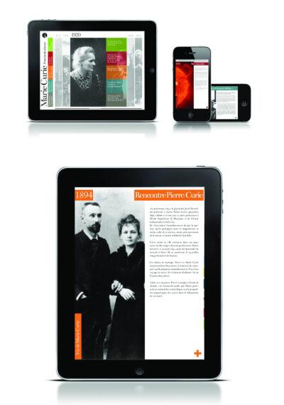 « Marie Curie, femme de sciences », prototype pour tablettes & smartphones