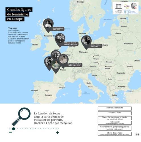 Interface pour une cartographie historique de grandes figures européennes