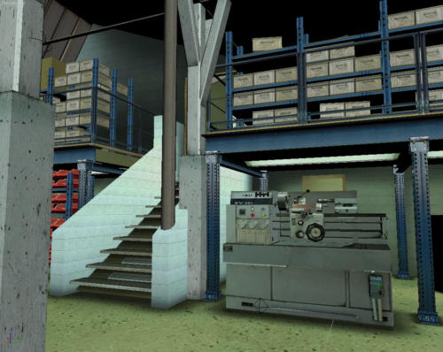Vue 3D de l'atelier du bronzier d'art 4