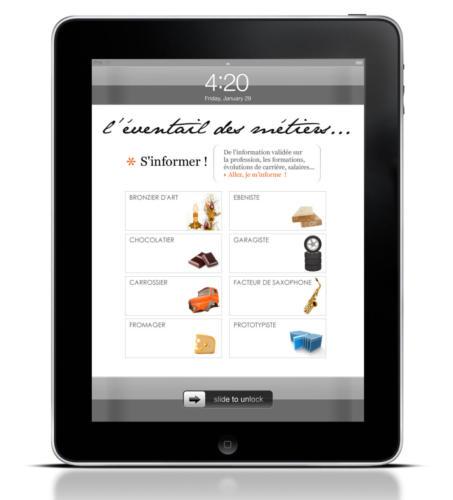 La collection des métiers sur iPad