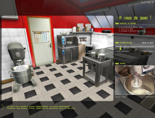 Module du chocolatier - 3D immersive