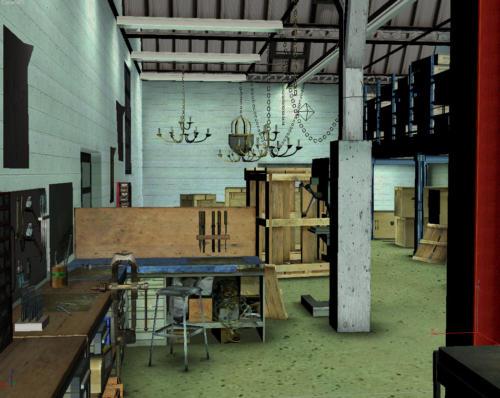 Vue 3D de l'atelier du bronzier d'art