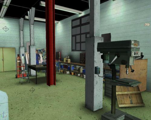 Vue 3D de l'atelier du bronzier d'art 2